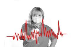 Nutrição e pulsação do coração vermelha Fotos de Stock