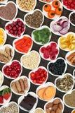 Nutrição super do alimento para um coração saudável Fotografia de Stock Royalty Free