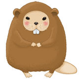 Nutria cartoon character Stock Photo