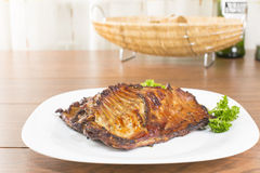 Of nutria ribs grilled Stock Photo