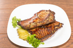 Of nutria ribs grilled Stock Photography