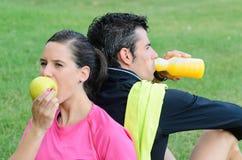 Nutrición de los atletas Imagen de archivo libre de regalías