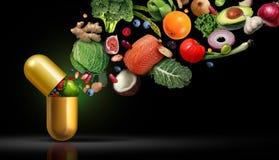 Nutrición de los suplementos de las vitaminas stock de ilustración