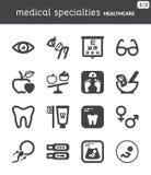 Nutrición dental oftalmología Embarazo Icono plano de la atención sanitaria Fotos de archivo libres de regalías