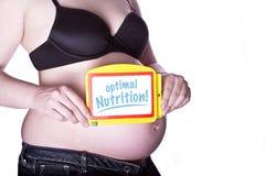 Nutrición embarazada de la muestra Foto de archivo
