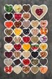 Nutrición estupenda de la comida para un corazón sano foto de archivo libre de regalías
