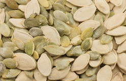 Nutricious mix of pumpkin seeds Stock Photography