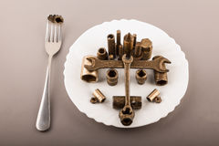 Nutrition appropriée. Repas lourd. Image stock