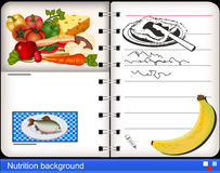 Nutrition background Royalty Free Stock Photography