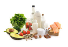 Nutrition for beautiful healthy skin Royalty Free Stock Images