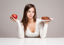 Nutrition choice. royalty free stock photography