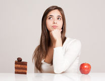 Nutrition choice. Stock Images
