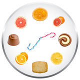 Nutrition Clock Concept Royalty Free Stock Photo