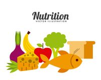 Nutrition concept design. Vector illustration eps10 graphic stock illustration