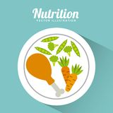 Nutrition concept design Royalty Free Stock Photography