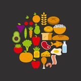 Nutrition concept design. Vector illustration eps10 graphic Royalty Free Stock Photos