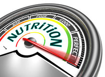 Nutrition conceptual meter Stock Photos