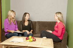 Nutrition Consultation on the couch Stock Photos