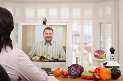 Nutrition consulting business online Royalty Free Stock Image