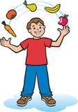 Nutrition de jonglerie Images libres de droits