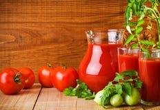 Nutrition de tomates Images libres de droits
