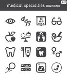 Nutrition. Dental. Ophthalmology. Pregnancy. Healthcare flat icon Royalty Free Stock Photos