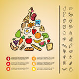 Nutrition design Stock Images
