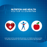 Nutrition design Royalty Free Stock Images