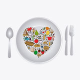 Nutrition design Royalty Free Stock Image