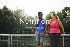 Nutrition Diet Healthy Life Nutritional Eating Concept stock image