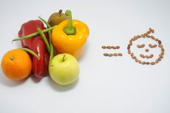 Nutrition education. Education in food stock photo