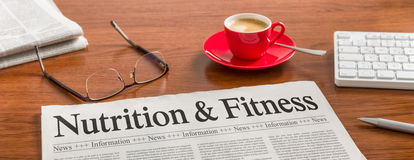 Nutrition et forme physique photographie stock libre de droits