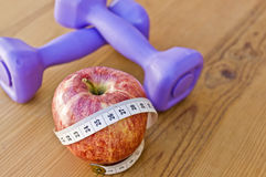 Nutrition and exercising Royalty Free Stock Photography