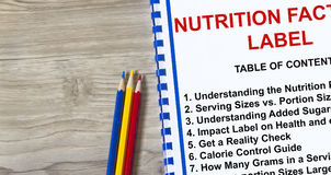 Nutrition fact label concept Royalty Free Stock Images