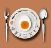 Nutrition facts chicken egg. Egg with nutrition facts, concept for healthy eating or dieting.Eps10 vector Stock Photo