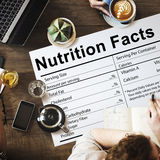 Nutrition Facts Health Medicine Eating Food Diet Concept stock photo