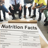 Nutrition Facts Health Medicine Eatting Food Diet Concept royalty free stock photos