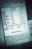 Nutrition facts. Nutrition information facts on food label Royalty Free Stock Images
