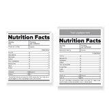 Nutrition facts label or sticker Royalty Free Stock Image