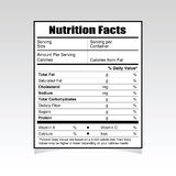 Nutrition facts paper food illustration Stock Photo