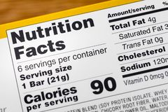 Nutrition facts serving calories label calories. Nutrition facts serving calories label food cholesterol sodium saturated trans fat vitamin royalty free stock images