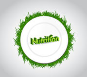Nutrition and food plate illustration design Stock Photos
