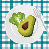 Nutrition healthy food icon Stock Photo