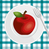 Nutrition healthy food icon Royalty Free Stock Photo