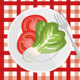 Nutrition healthy food icon Royalty Free Stock Photography