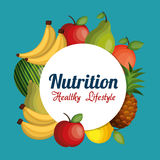 Nutrition healthy food isolated icon. Vector illustration design Stock Images