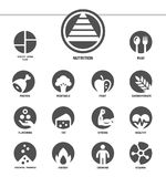 Nutrition icon set inverse style. Nutrition icon set and illustration vector illustration