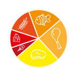 Nutrition infographic isolated icon design Stock Images