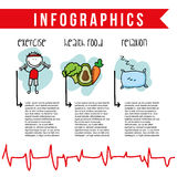 Nutrition infographics Royalty Free Stock Images