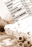 Nutrition information Stock Photography